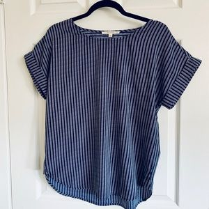 🔝Navy Blue Striped Top